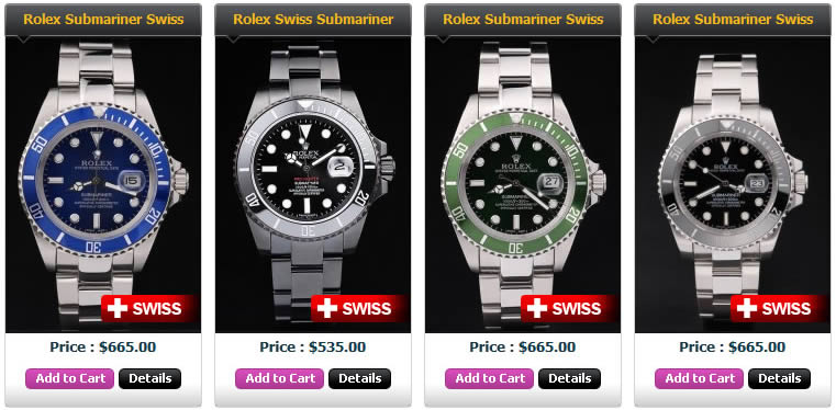 Swiss Rolex ETA Submariner Replica UK